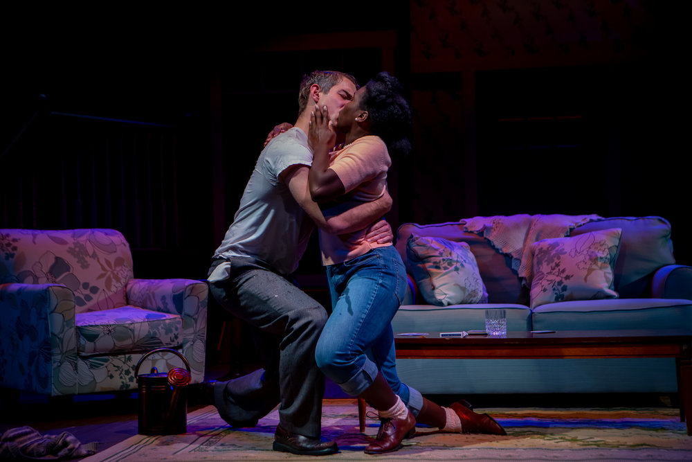 Photo by Melissa Blackall.  Set in the Living Room of a Small Town American Play  at Colby College, directed by Toby Vera Bercovici.