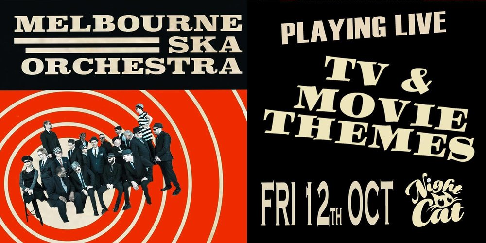 Hey,   Melbourne Ska Orchestra are playing a rare Melbourne show next week (Fri 12th Oct) at the Night Cat in Fitzroy. We've been selling out shows all around the country and this one is going to be a special first outing of some of our newer tunes. Love to see you down there! Here's a link to some tix    http://bit.ly/nightcatTV