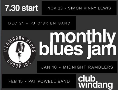 OK PEOPLE WE SAID WE WOULDN'T DISAPPOINT , HERE IS OUR FIRST ANNOUNCEMENT CHECK OUT OUR KILLER HOUSE BANDS . SEE YA'S THERE  Ladies and gents this Friday we are back with the Jam at Club Windang from 730pm.. special hosts the fabulous Pat Powell band..!!