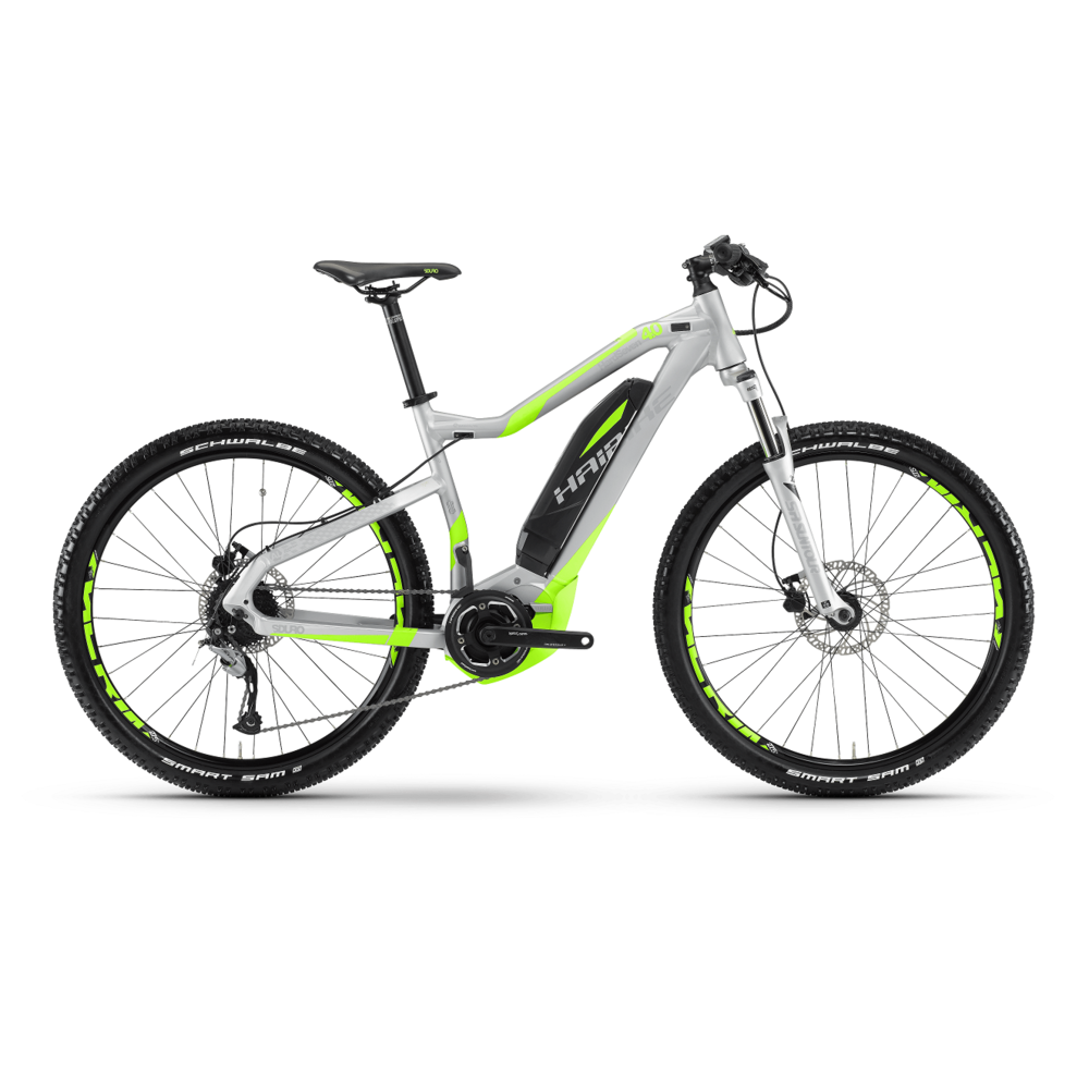 Haibike SDURO  Electric Mountain Bike- Small Frame, 40 cm Available at our Honolulu & Kapolei Bike Shops.    20-50 mile battery range