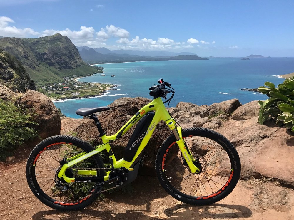 Haibike HardFour 4.0 Electric Mountain Bike- Small Frame   Available at our Honolulu & Kapolei Bike Shops. 25-50 mile battery range