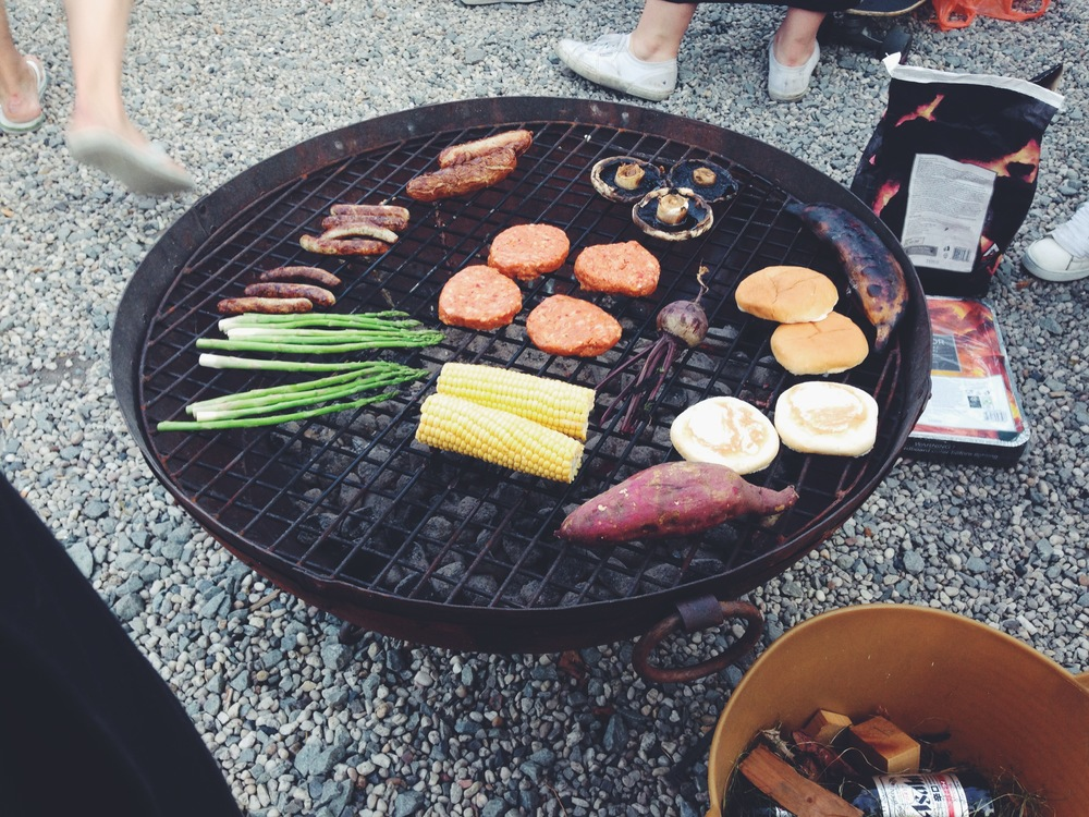 rooftop vegan barbeque