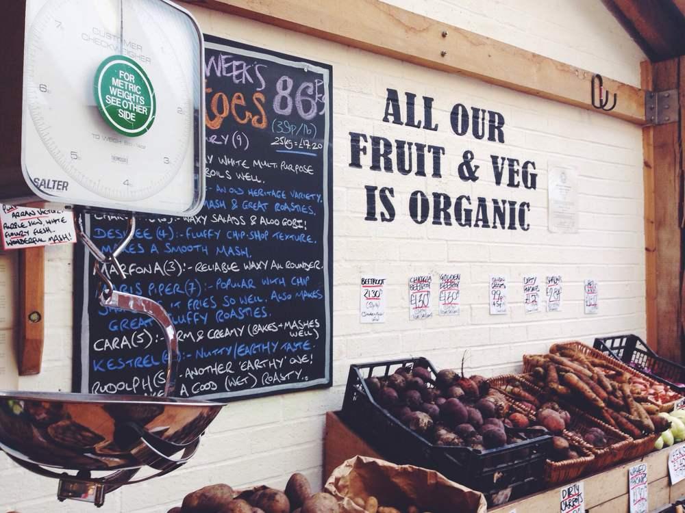 organic food at Unicorn