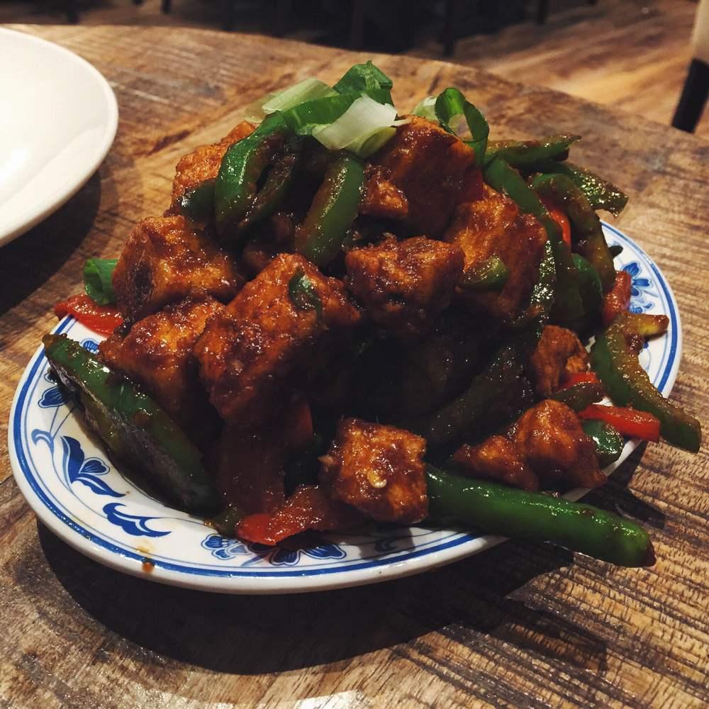 Chilli tofu at Sakonis