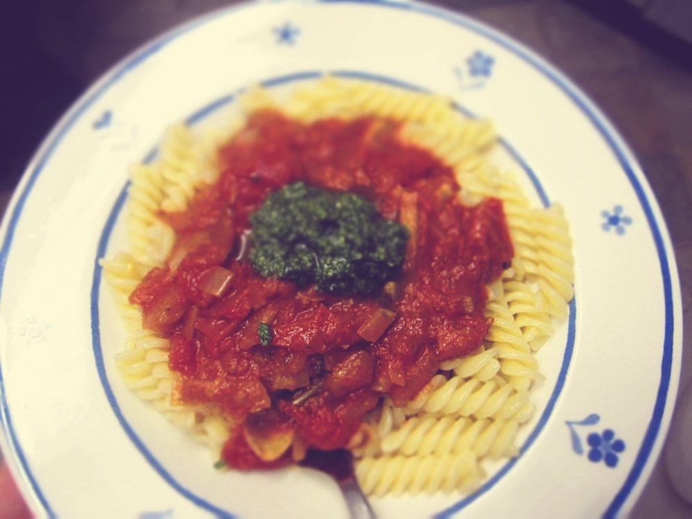 two sauce pasta
