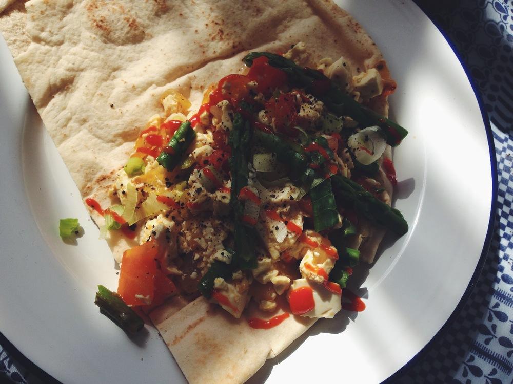 scramble chilli tofu