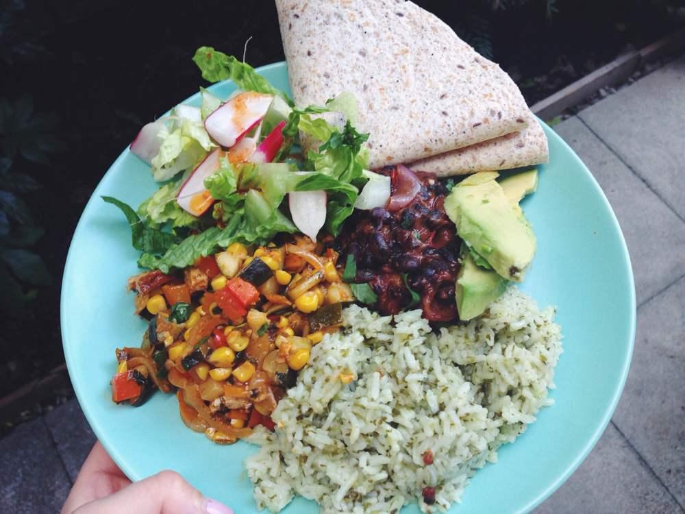 vegan herb rice