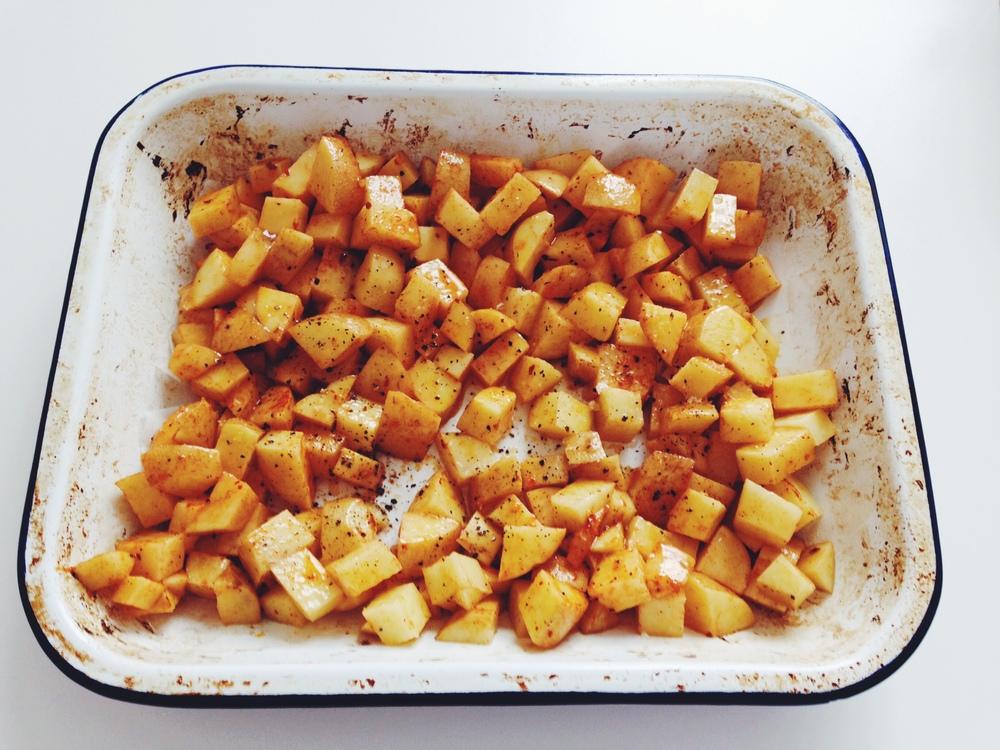 spicy chilli potatoes
