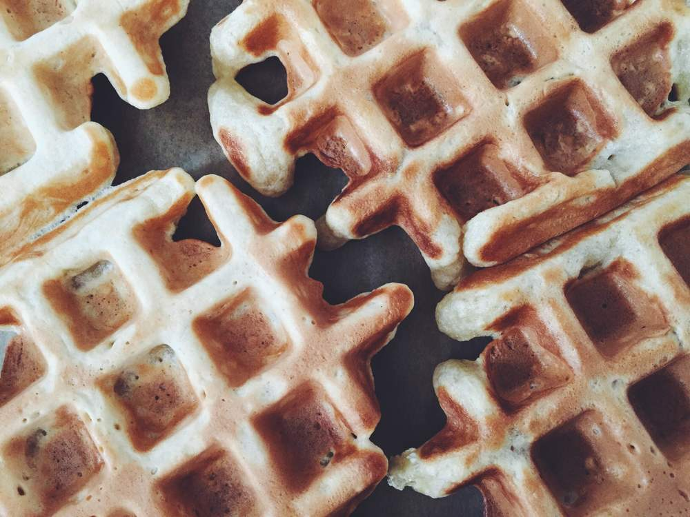 vegan waffles for breakfast