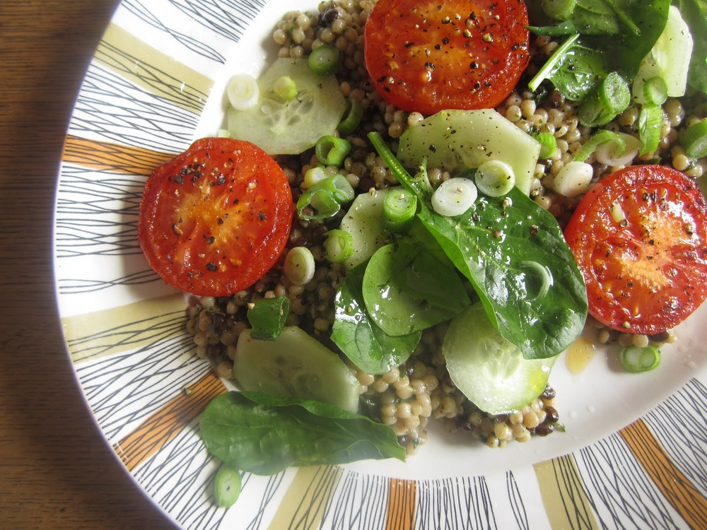 tomato and puy lentil salad