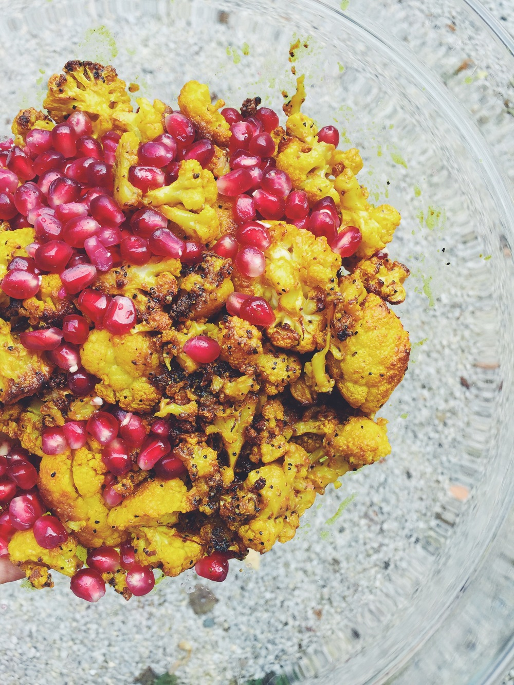 CHICKPEA, CAULIFLOWER, POMEGRANATE AND MINT