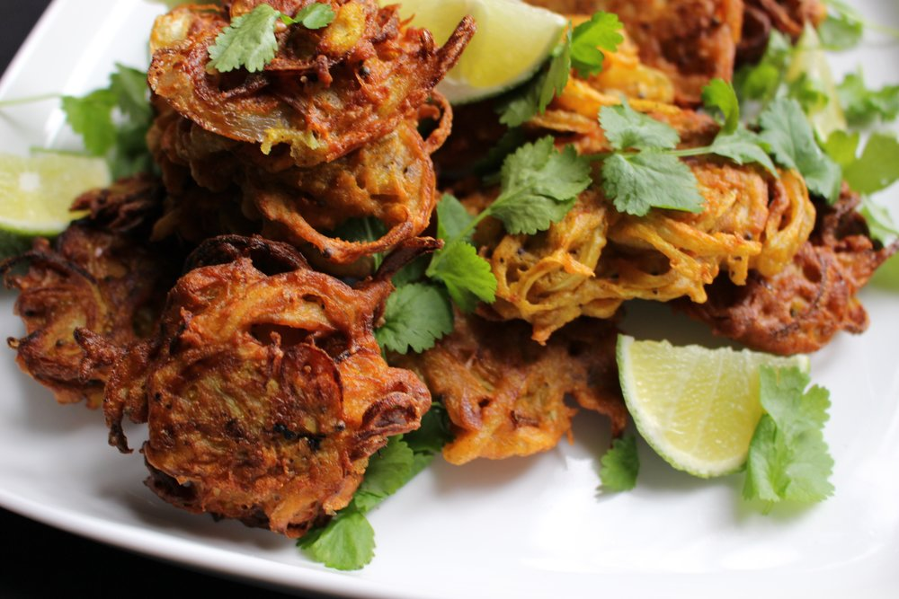 ONION AND MUSTARD SEED BHAJIS