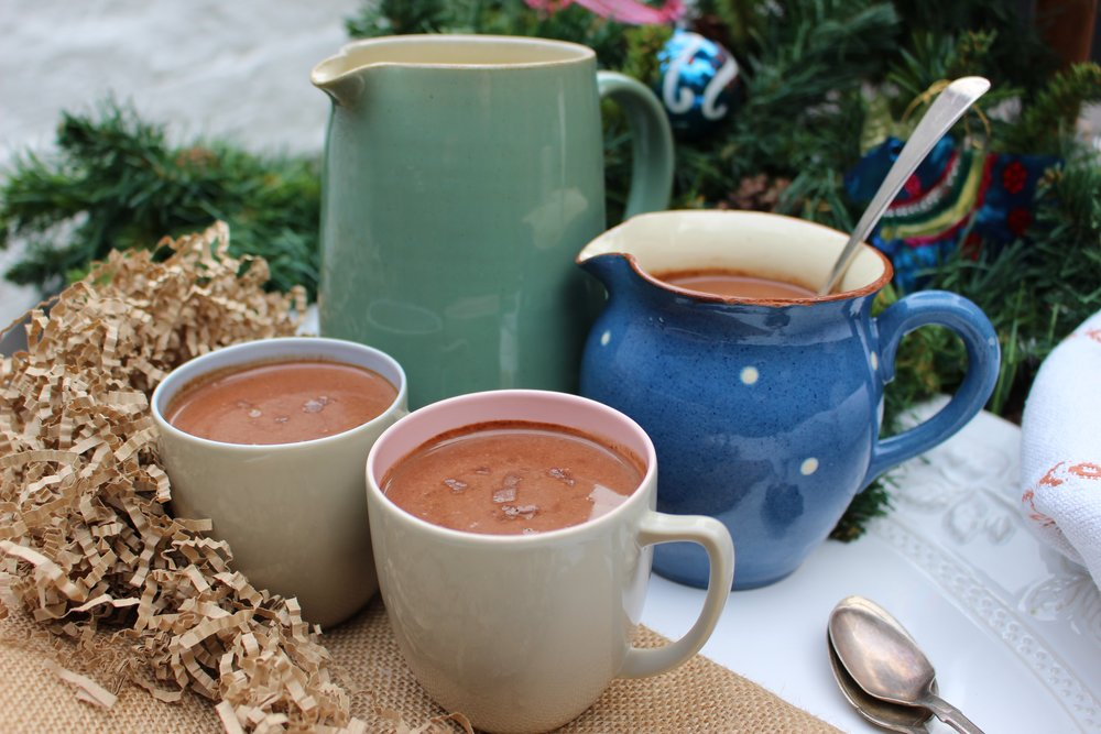 vegan sea salt hot chocolate