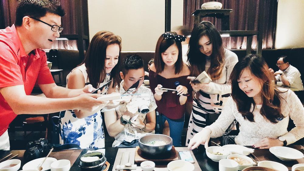 The Singaporean team hard at work.