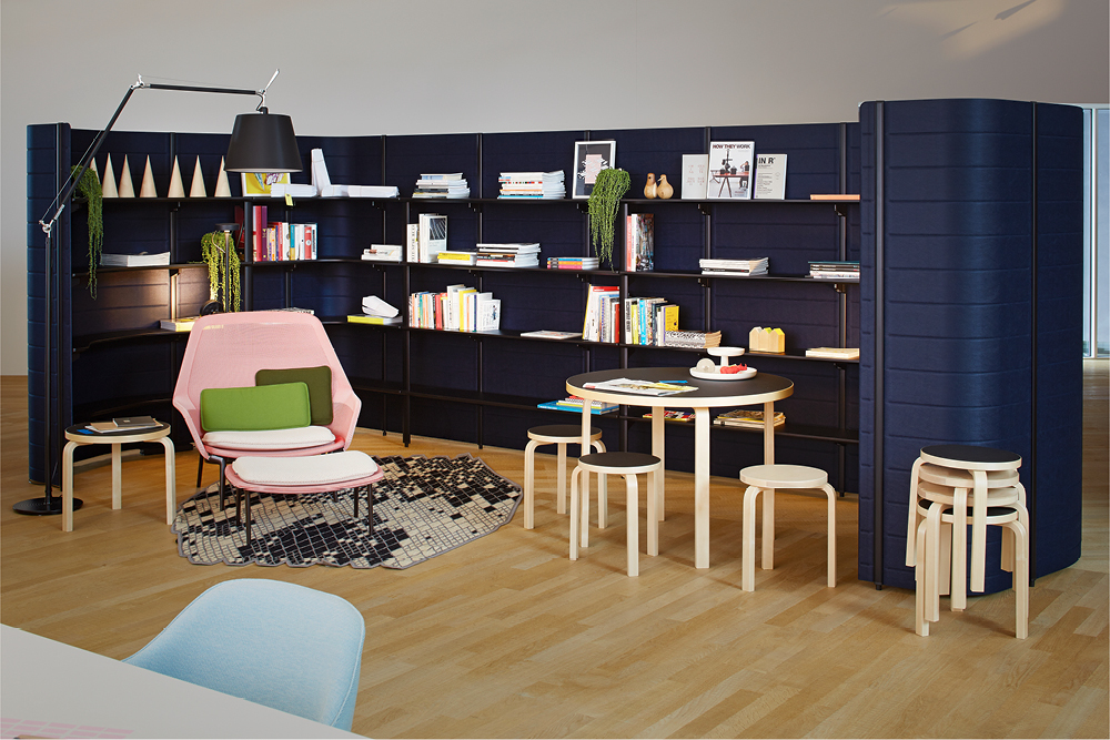 a 'Workbay' as library with Do You Read Me!? bookshop —Photographer: Lorenz Cugini © Vitra
