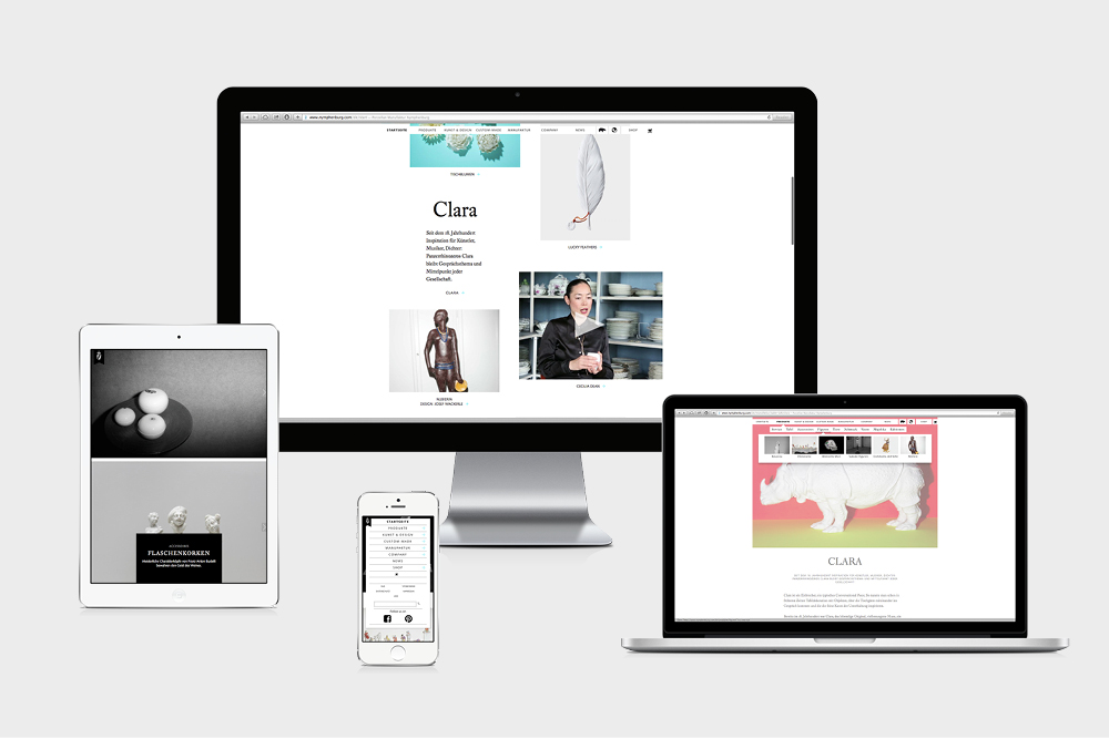 Nymphenburg's responsive online presence at launch 2013