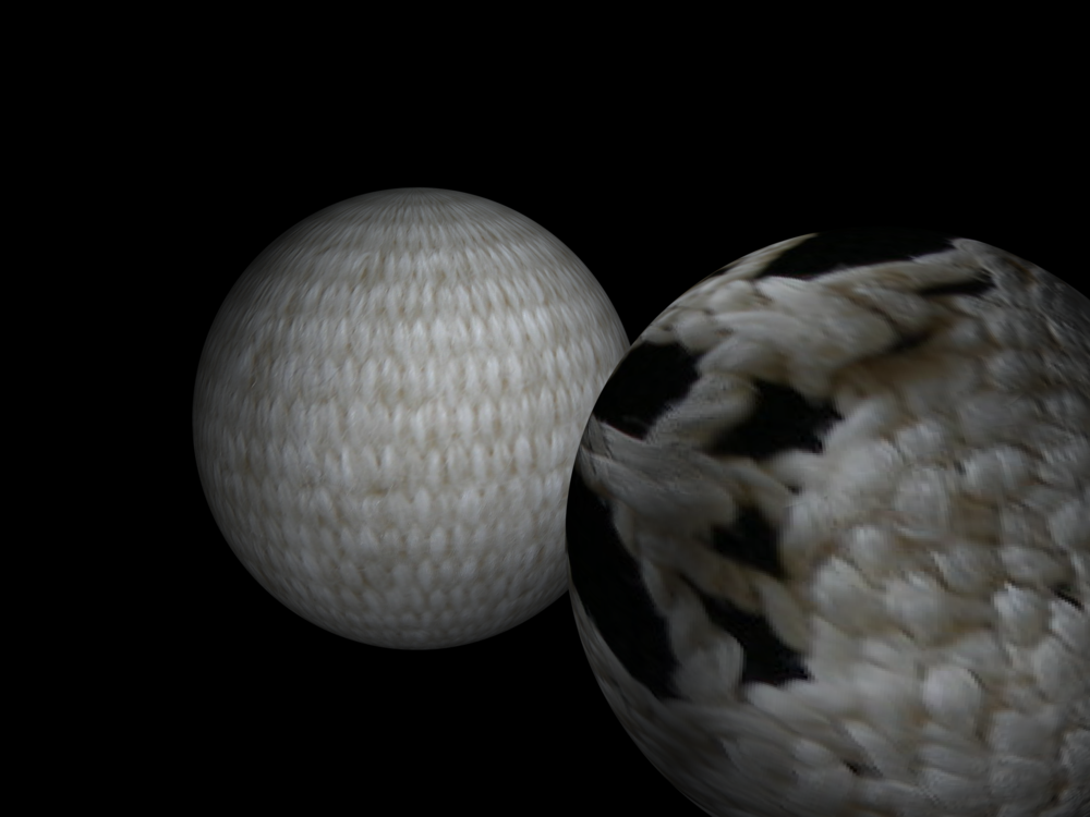Eclipse series: digital animations with mapping of archival lace and hand-woven tapestry.