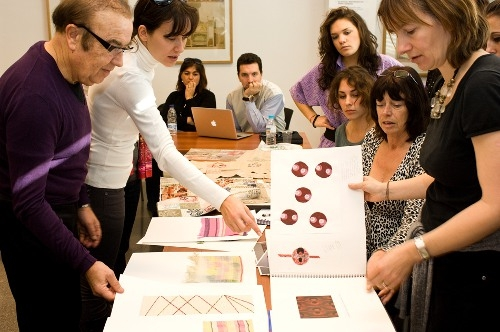 Student/ Designer session with museum staff, Terrassa Textile Museum, Spain