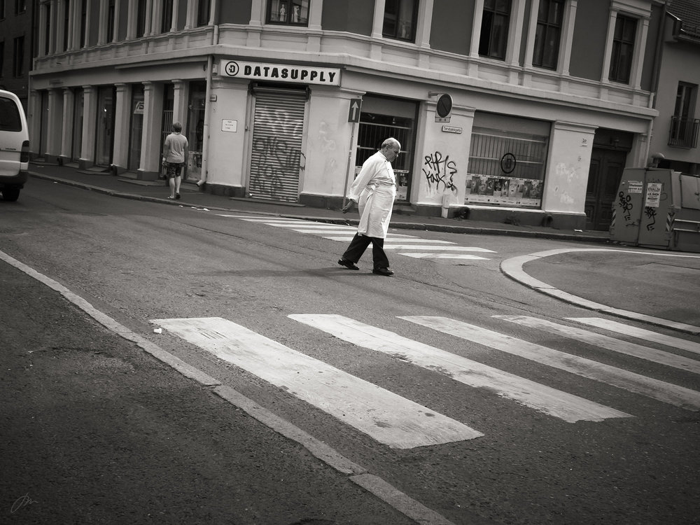 En kjøpmann går hjem til lunsj – Markveien