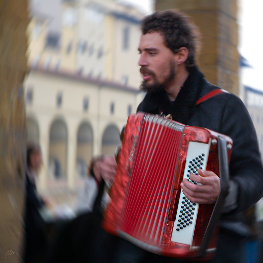 Intens musikk på Ponte Vecchio