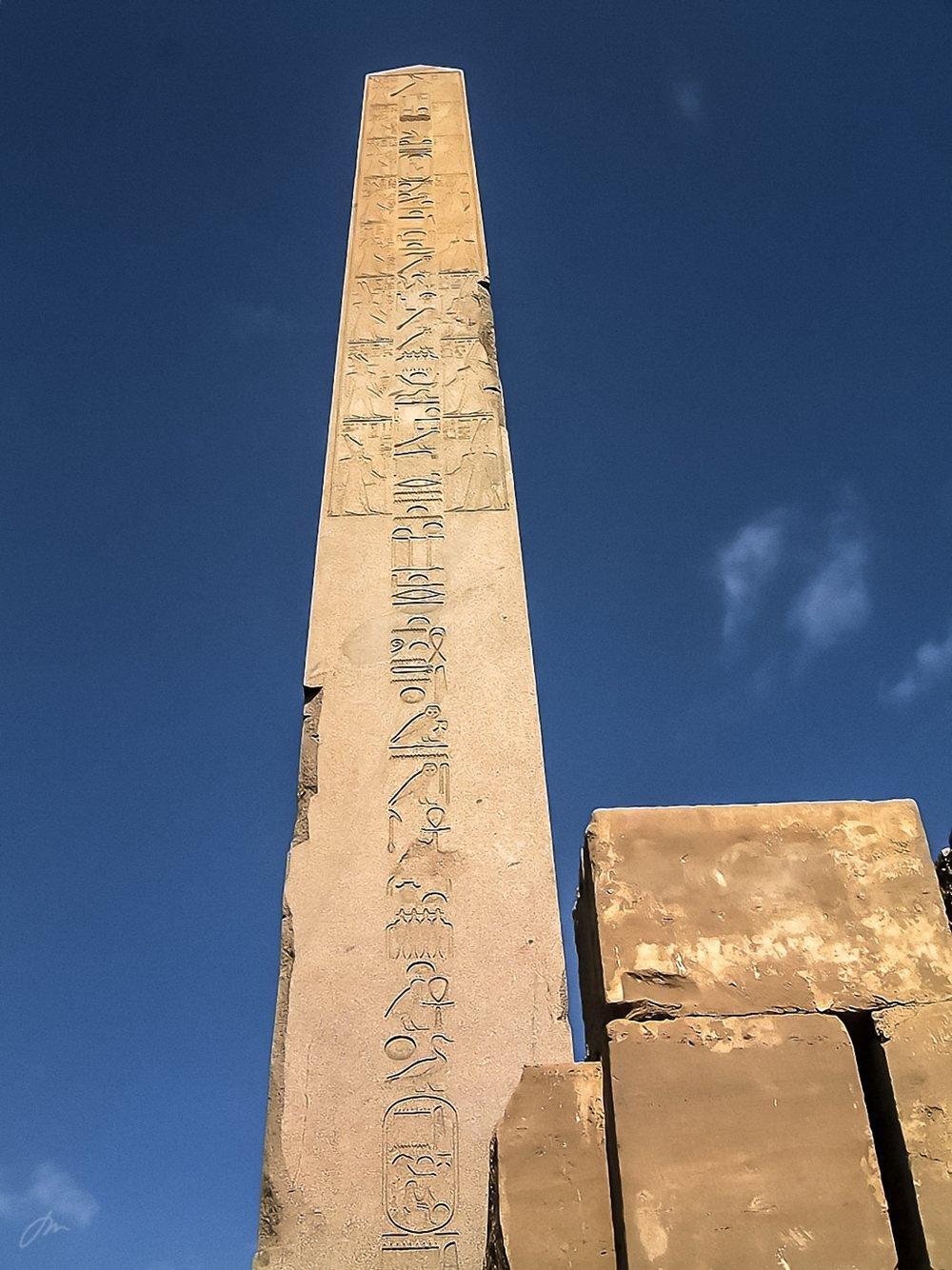 Dronning Hatshepsuts obelisk i Karnak-tempelet