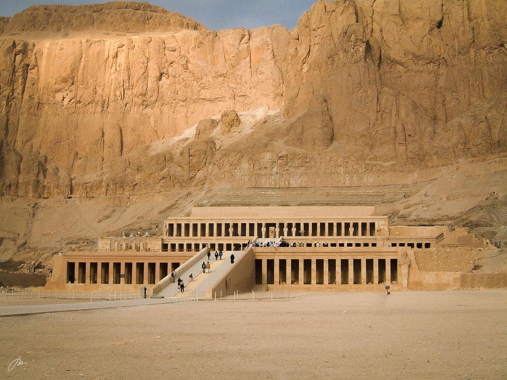 Hatshepsuts dødstempel i Deir el-Bahri