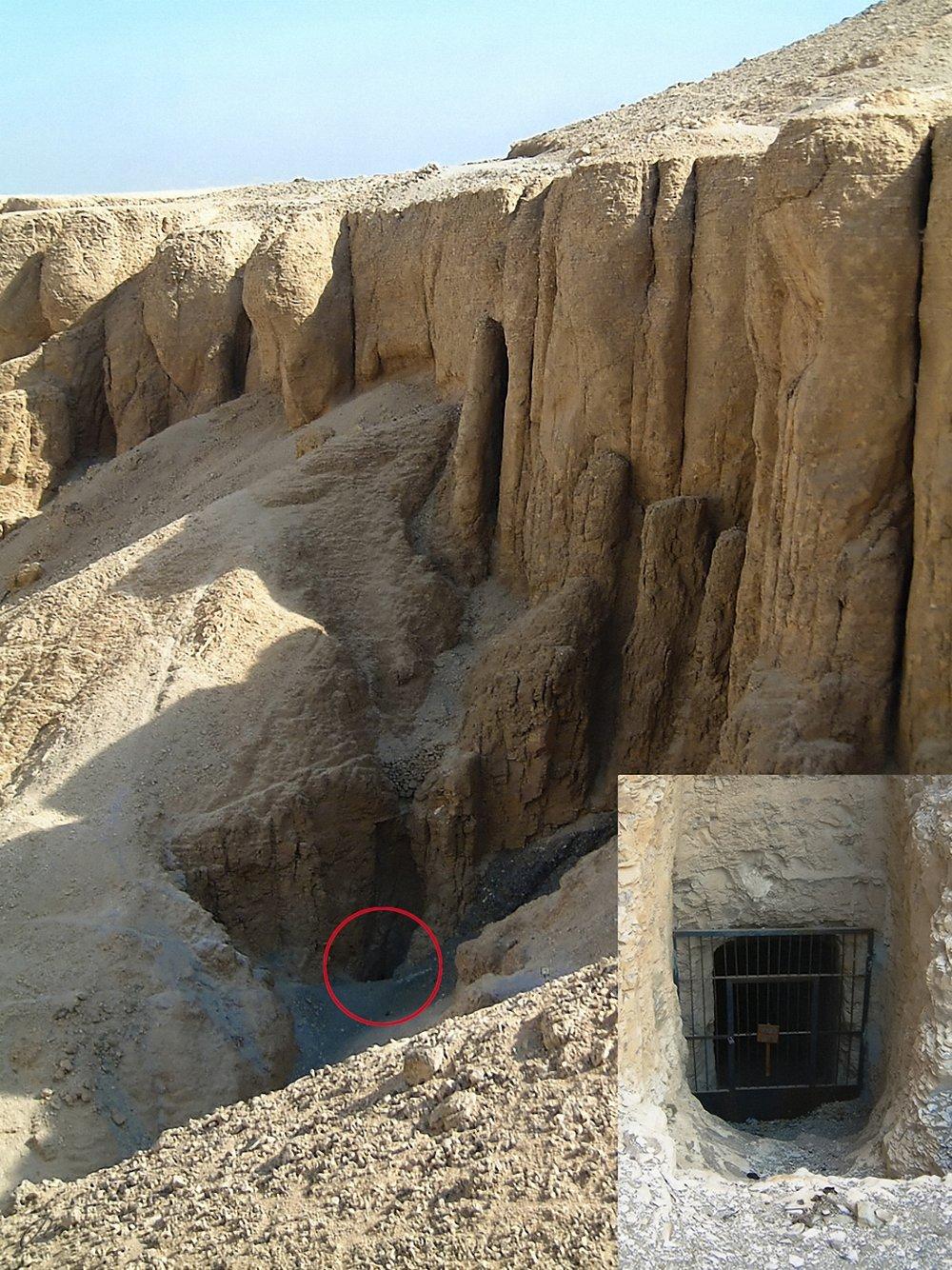 Inngangen til Hatshepsuts gravkammer