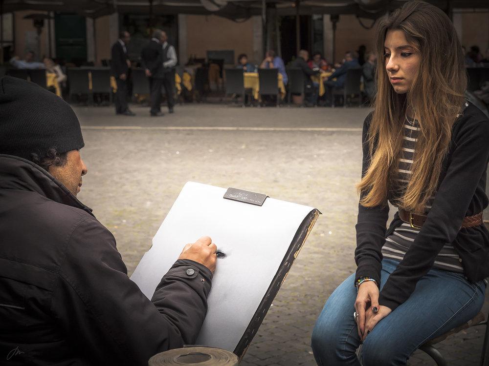 Gatekunstner i Roma