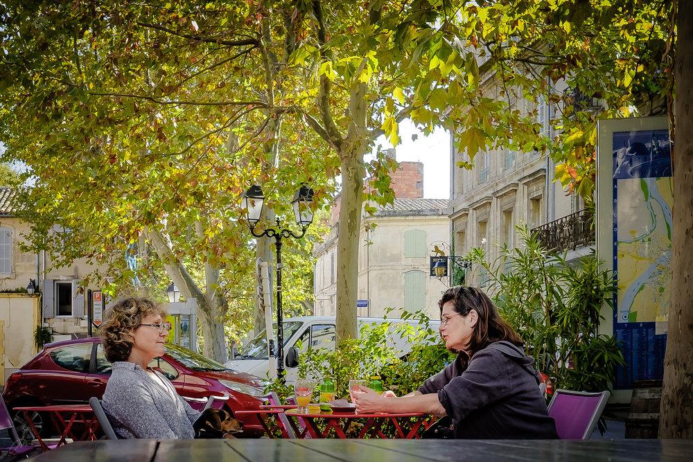 Fra den gamle romerbyen   Arles   i Sør-Frankrike.
