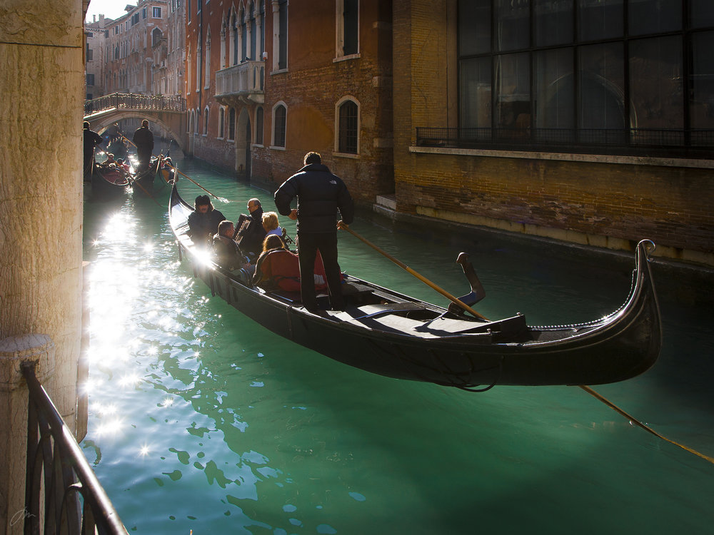 Vintersol i Venezia