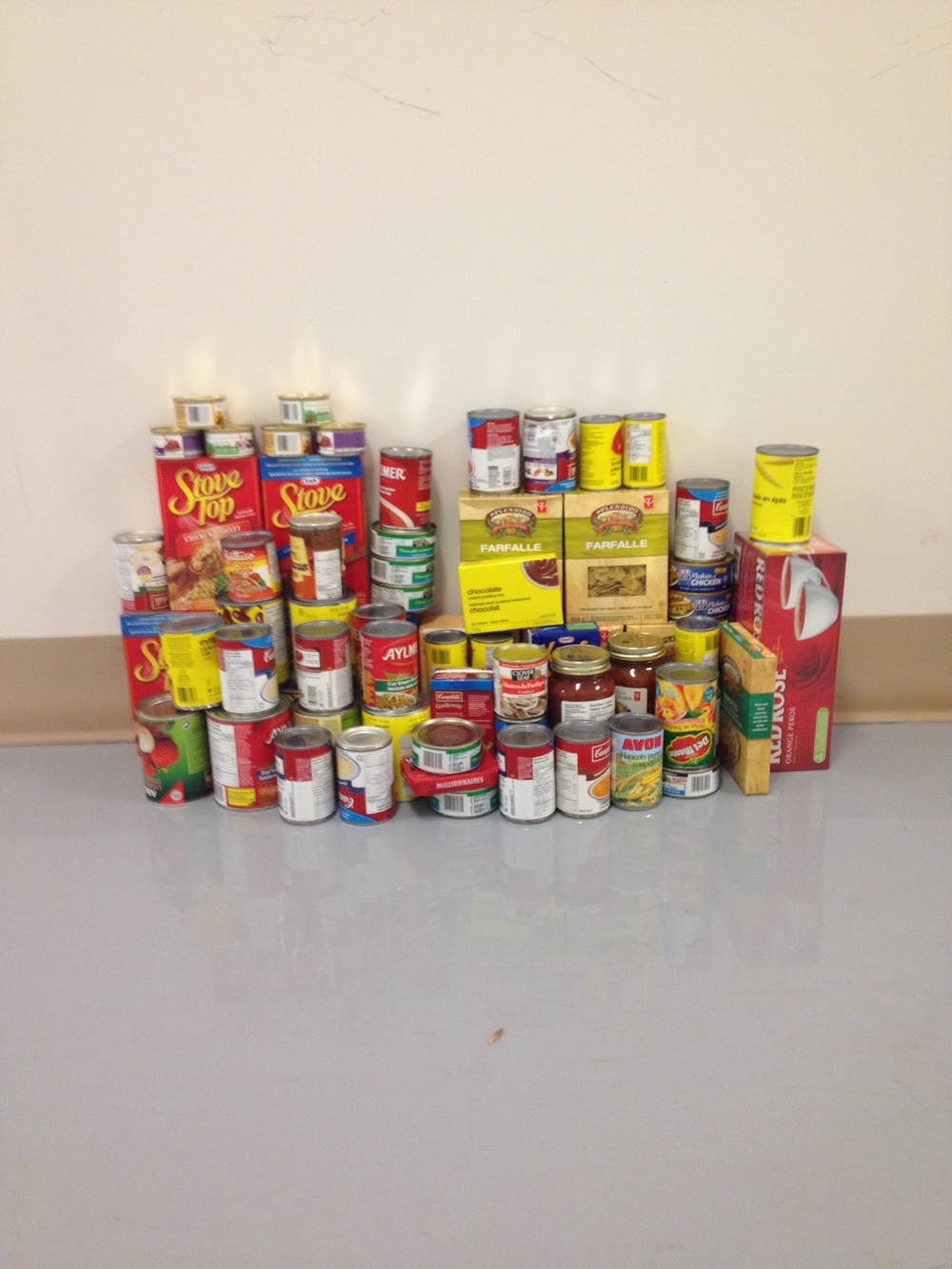 Nice work everyone: A hefty food bank donation from my clients!
