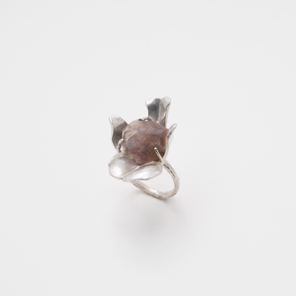 Remarkable Ring by Fritz: Smithed and constructed -the shank is made from a cast piece of lemongrass.
