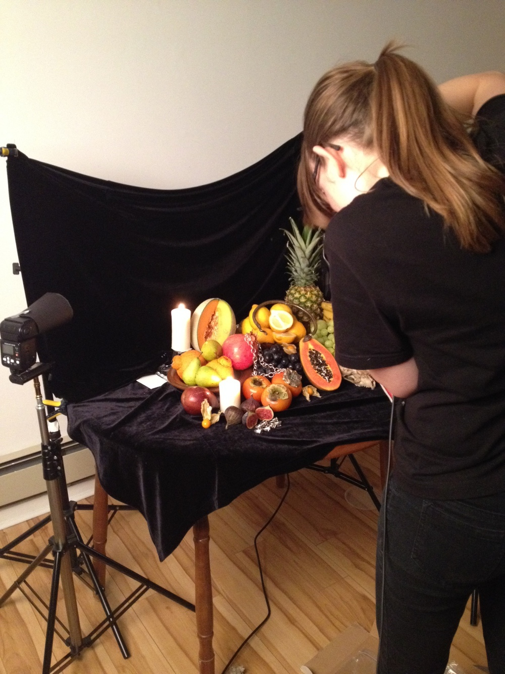 Classical Still Life Shoot in progress with Christina Arsenault.