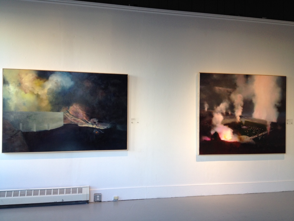 Two paintings by Ambera Wellman