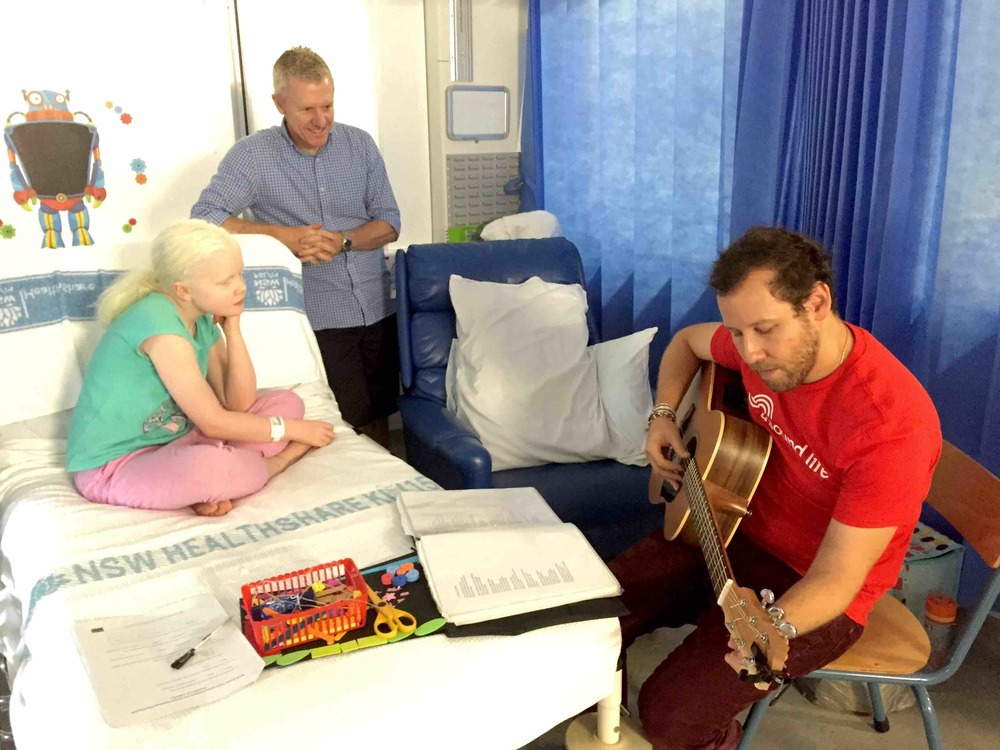 Ben Lee at Sydney Children's Hospital