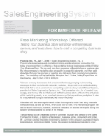 TELLING YOUR BUSINESS STORY PRESS RELEASE PG 1