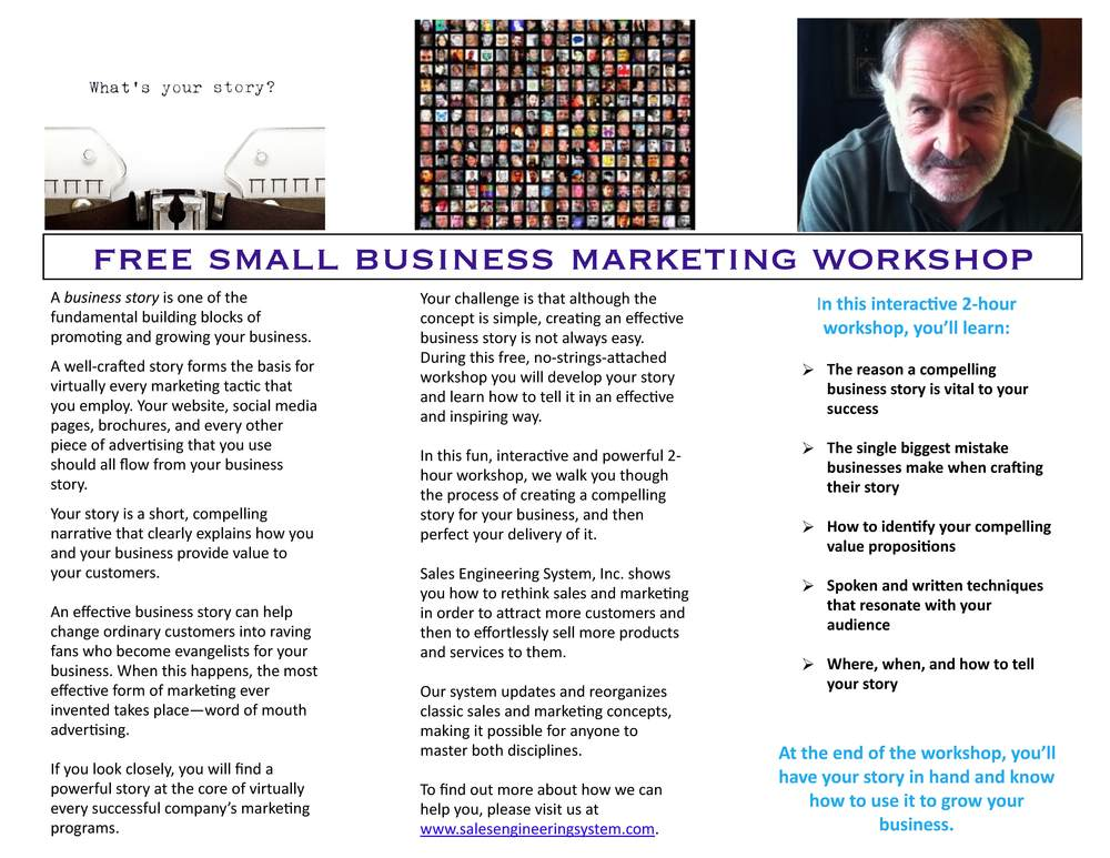 TELLING YOUR BUSINESS STORY BROCHURE INSIDE