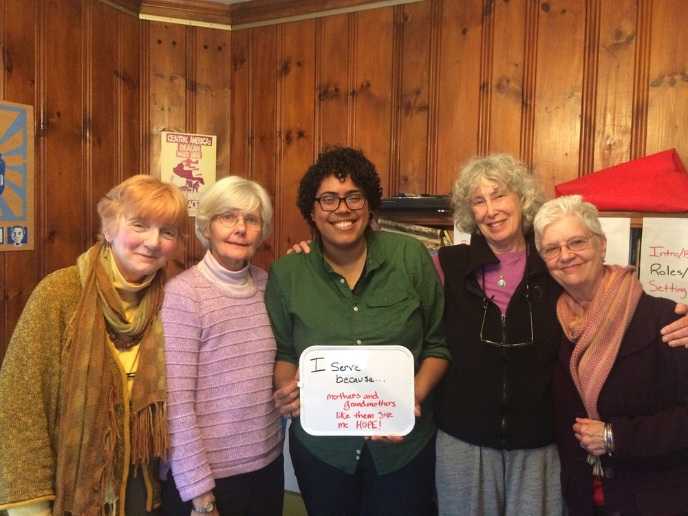 """I serve because mothers and grandmothers like them give me HOPE!"" - Yani Burgos, Emmaus Fellow at Mothers Out Front & Allston Intentional Community"