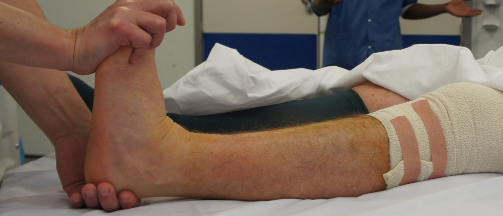 Now the Gastroc muscle has been lengthened, the calf is no longer tight and the ankle can move without restriction.