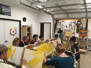 friday art night tinker art studio classes parties community