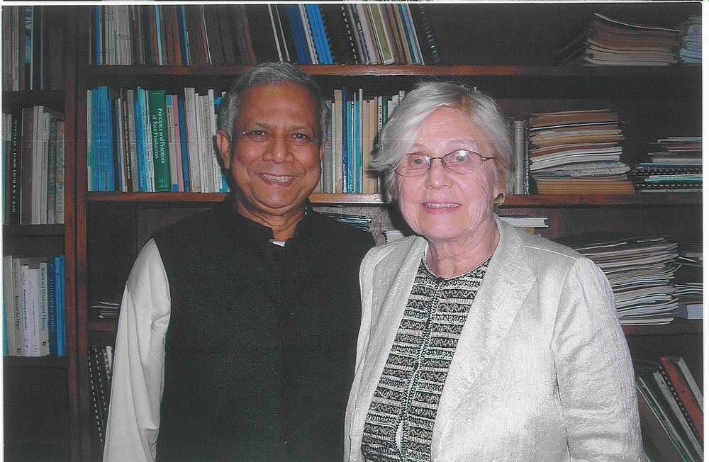Muhammad Yunus and Katharine Esty in 2010