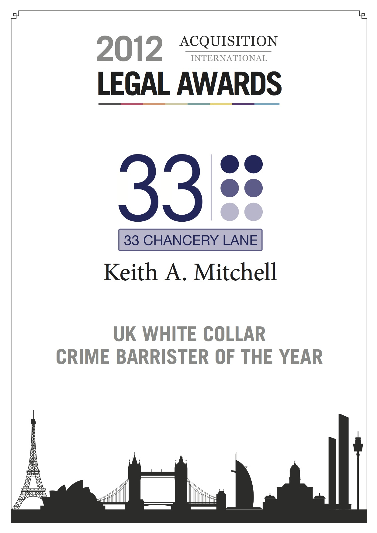 UK White Collar Crime Barrister of the Year (Cert)