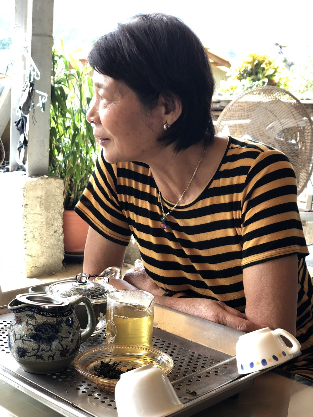 Mrs. Gao, tea estate owner
