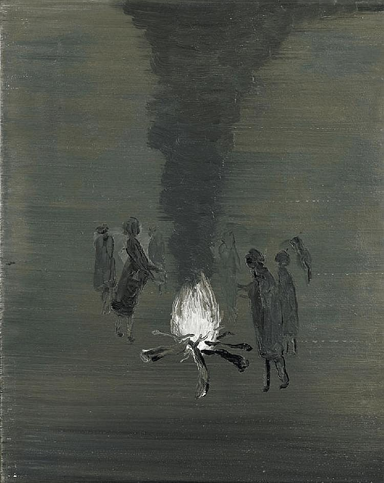 Untitled (at the bonfire), Norbert Schwontkowski. Germany, born in 1949.