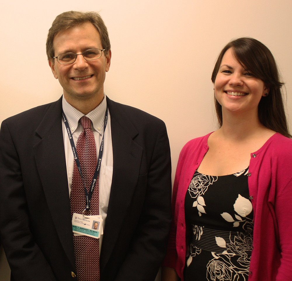 (l to r: Dr. Kurt Barnhart and Elizabeth Steider)