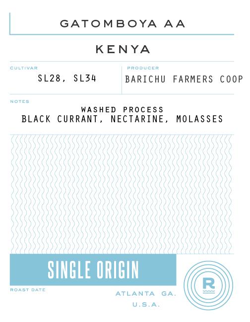 Kenya gitura AB muranga county coffee
