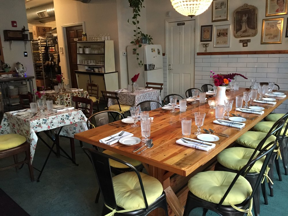 Let us host your party! Our BYOB private dining room is perfect for your brunch, lunch and dinner gatherings, from a sit down meal to a cocktail-style soiree.