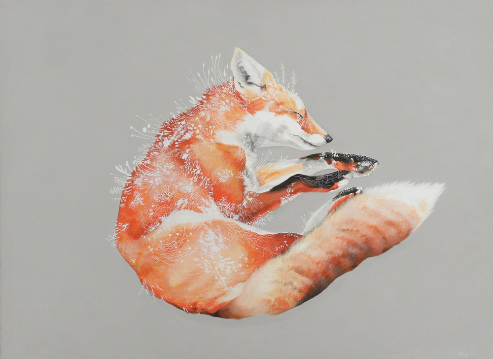 "@Melinda Josie, 'Red Fox', 2010; Oil on Linen, 16"" x 22"" framed (SOLD)"