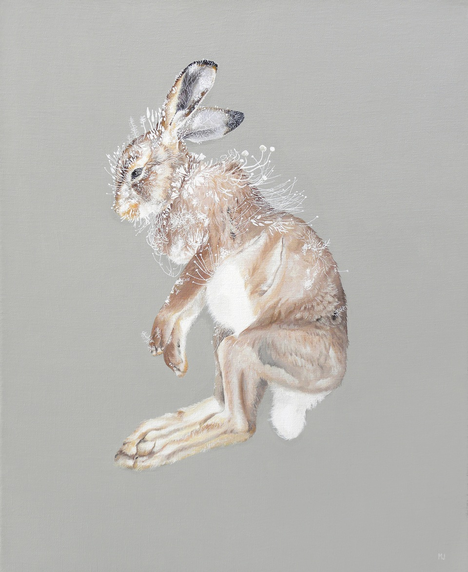 "@Melinda Josie, 'Snowshoe Hare', 2010; Oil on Linen, 18"" x 22"" framed"