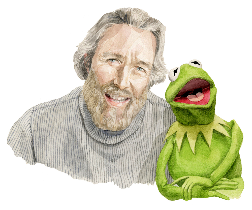 Jim Henson, (and Kermit the Frog), ©Melinda Josie, 2013